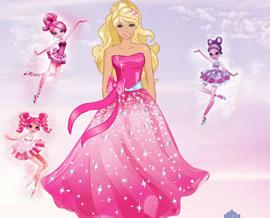 Barbie Elbisesi Dikme
