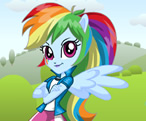 Equestria Girls Rainbow Dash Giydirme
