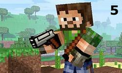 3D Minecraft FPS 5 Oyunu