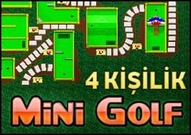 4 Kişilik Mini Golf Oyunu