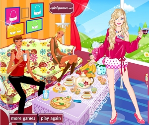 Barbie Çay Partisi Oyunu
