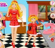 Barbie ile Minik Kızının Kıyafetleri Oyunu