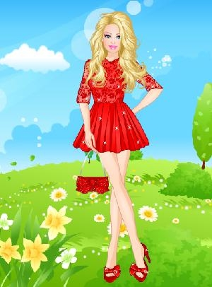 Barbie Yazlık Elbise Kreasyonu Oyunu