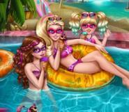 Süper Barbie ve Kardeşleri Havuzda