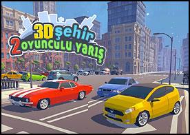 3D Şehir: 2 Oyunculu Yarış