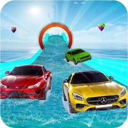 Su Kaydırağı Araba Yarışı Oyunu