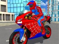 Örümcek Adam Bisiklet Sürme