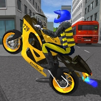 Polis Motosiklet Yarışı Simülatörü Oyunu